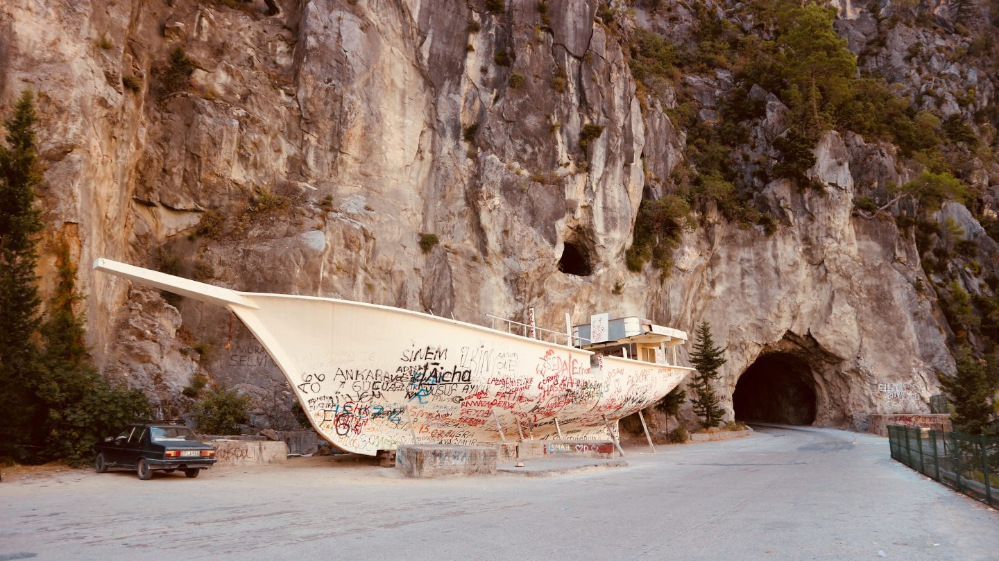 graffiti, boat, side, turkey, manavgat, canyon