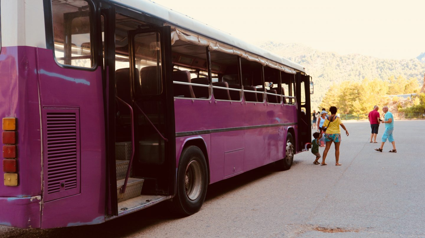 bus, old, travel, purple bus, vintage car,