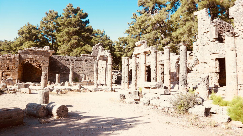 ruin roman times history agora