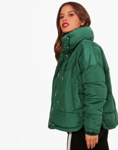 Boohoo green coat